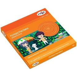 "Пластилин Гамма ""Оранжевое солнце"", 12 цветов ( 6 классич., 6 флуор.), 168г, со стеком. картон. упак. 130520204"