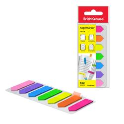 Закладки пластиковые с клеевым краем ErichKrause® Neon Arrows, 12х44 мм, 140 листов, 7 цветов 31179