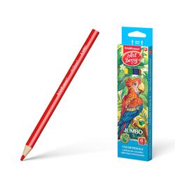 Цветные карандаши трехгранные ArtBerry® Jumbo 6 цветов с точилкой 32473