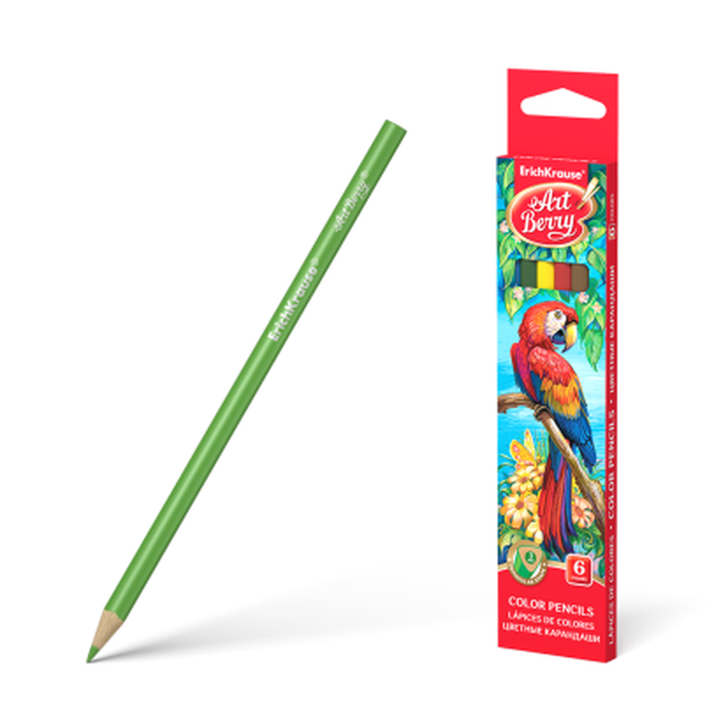 Цветные карандаши трехгранные ArtBerry® 6 цветов 32478