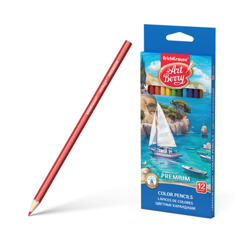 Цветные карандаши шестигранные ArtBerry® Premium 12 цветов 32482