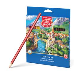 Цветные карандаши шестигранные ArtBerry® Premium 24 цвета 32483