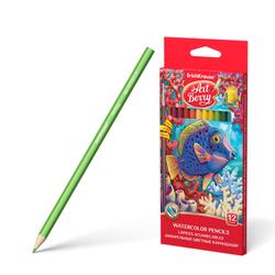 Акварельные карандаши ErichKrause® 12 цветов с кисточкой 32485