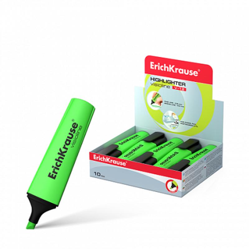 Текстмаркер ErichKrause® Visioline V-12, цвет чернил зеленый 32497