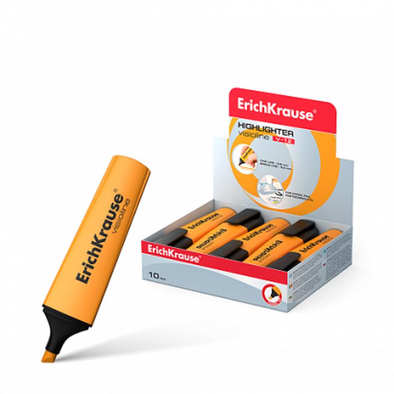 Текстмаркер ErichKrause® Visioline V-12, цвет чернил оранжевый 32499