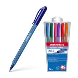 Ручка шариковая ErichKrause® U-18, Ultra Glide Technology (в футляре по 6 шт.) 32540