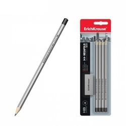 """Набор 4 чернографитных карандаша """"MEGAPOLIS 100"""" + ластик (HB) (в блистере) 32859"""