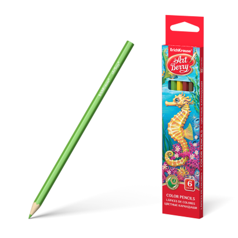 Цветные карандаши шестигранные ArtBerry® 6 цветов 32877