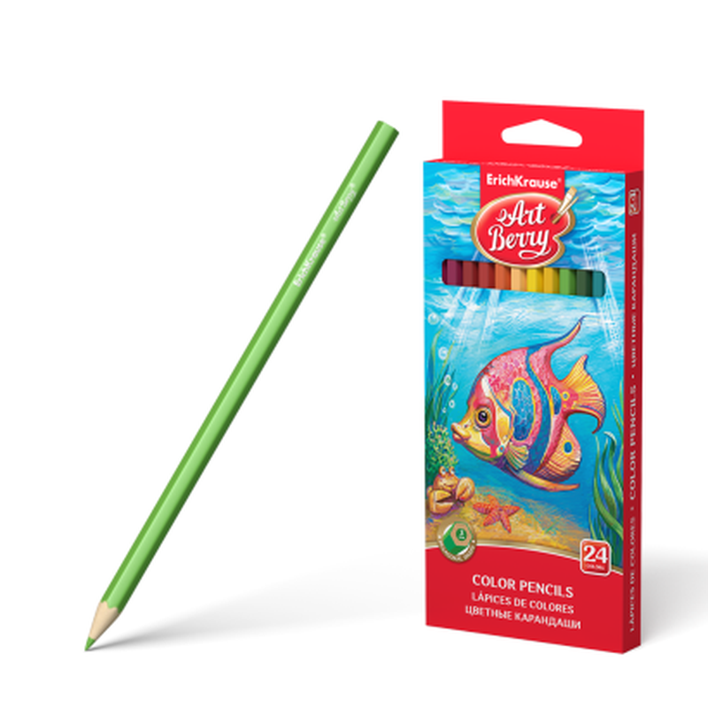 Цветные карандаши шестигранные ArtBerry® 24 цвета 32880