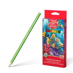 Акварельные карандаши ErichKrause® 24 цвета с кисточкой 32882