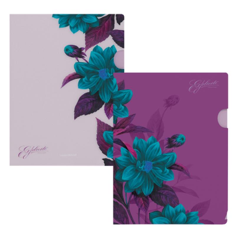 Папка-уголок пластиковая  ErichKrause® Night Illusion, A4, ассорти (комплект 4 шт.) 33629