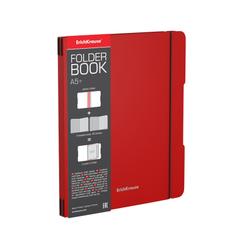 Тетрадь общая ученическая в съемной пластиковой обложке ErichKrause® FolderBook, красный, А5+, 2x48 листов, клетка 48023