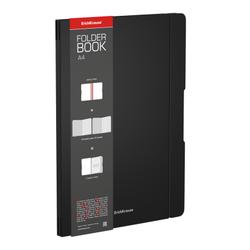 Тетрадь общая ученическая в съемной пластиковой обложке ErichKrause® FolderBook, черный, А4, 2x48 листов, клетка 48229