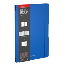 Тетрадь общая ученическая в съемной пластиковой обложке ErichKrause® FolderBook, синий, А4, 2x48 листов, клетка 48230