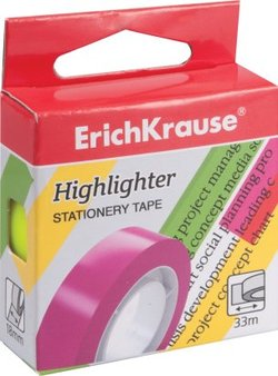 Клейкая лента ErichKrause® Highlighter, 18мм*33м 36926