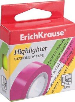 Клейкая лента ErichKrause® Highlighter, 18мм*33м 36926