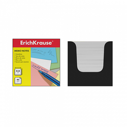 Бумага настольная ErichKrause 80*80*80 мм. в черной картонной подставке (белый) 36984