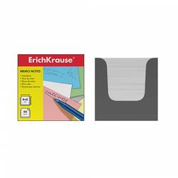 Бумага настольная ErichKrause 80*80*80 мм. в серой картонной подставке (белый) 36985
