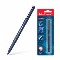 Ручка капиллярная ErichKrause® F-15, цвет чернил синий (в блистере по 1 шт.) 37102