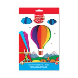 Цветная бумага двусторонняя мелованная в папке с подвесом ArtBerry® В5, 10 листов, 20 цветов, игрушка-набор для детского творчества 37206