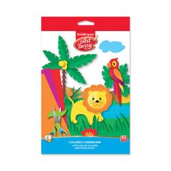 Цветной картон мелованный в папке с подвесом ArtBerry®, В5, 10 листов,10 цветов, игрушка-набор для детского творчества 37211