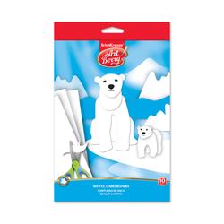 Белый картон мелованный в папке с подвесом ArtBerry®, B5, 10 листов, игрушка-набор для детского творчества 37216