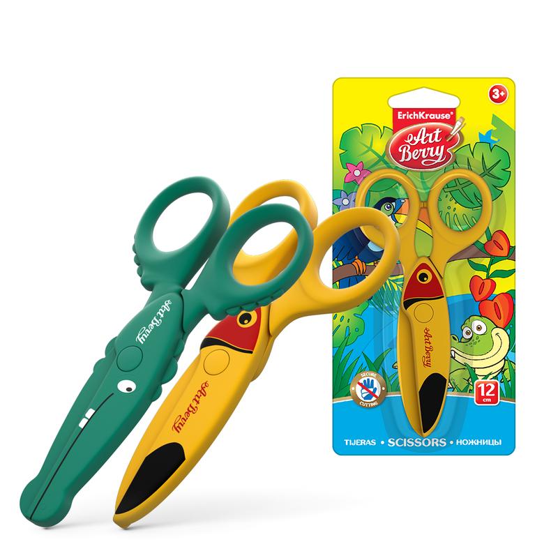 Ножницы пластиковые Artberry® Wild friends (блистер) 37432