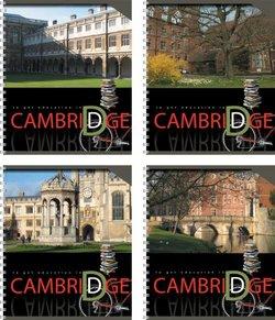 """Тетрадь на спирали, 80 листов, клетка. А5+ """"Cambridge"""", УФ-лак 37630"""