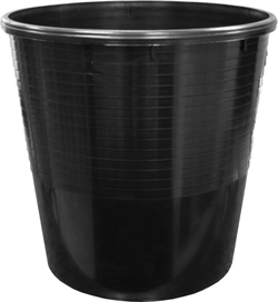 Корзина пластиковая для бумаг ErichKrause® Office, 12 л. черный 3781
