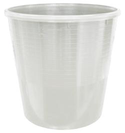Корзина пластиковая для бумаг ErichKrause® Office, 12 л. серый 3782
