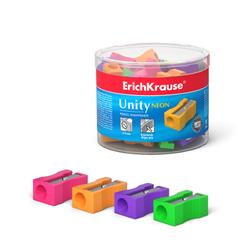 Пластиковая точилка ErichKrause® Unity Neon, цвет корпуса ассорти 38013