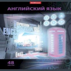 """Тетрадь предметная ученическая,48л VIDEOTERMINAL """"Английский язык"""" УФ-лак 38922"""