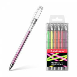 Ручка гелевая ErichKrause® Neon (в футляре по 6 шт.) 39000