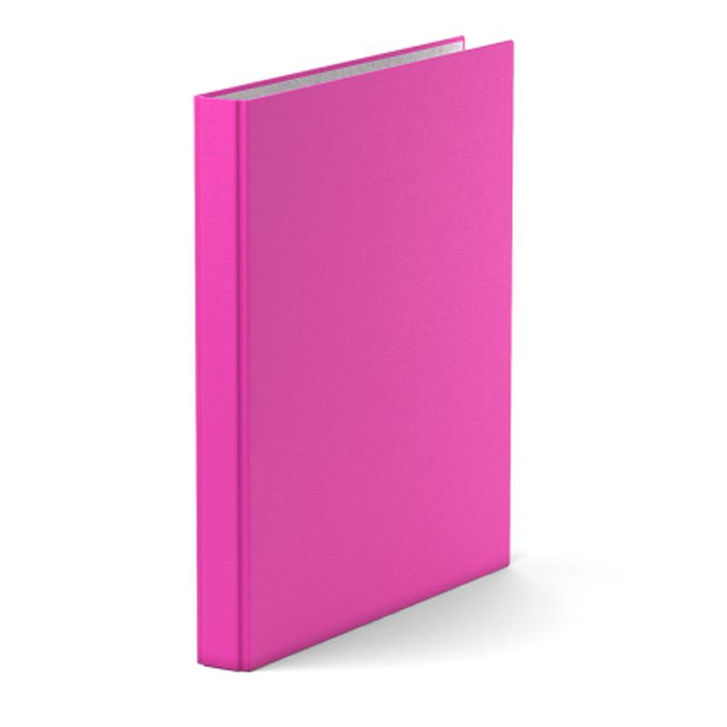 Папка–регистратор на 2 кольцах ErichKrause®, Neon, А4, 35 мм, розовый 39059