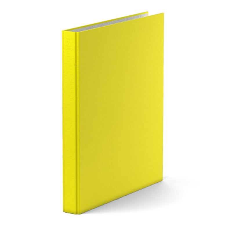 Папка–регистратор на 4 кольцах ErichKrause®, Neon, А4, 35 мм, желтый 39062