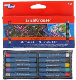 Масляная пастель ArtBerry® Metallic 8 цветов + 2 контура 39155