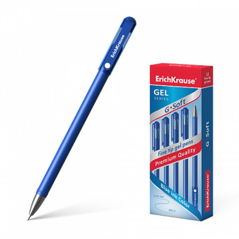 Ручка гелевая ErichKrause® G-Soft, цвет чернил синий 39206