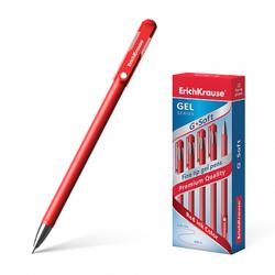 Ручка гелевая ErichKrause® G-Soft, цвет чернил красный 39432