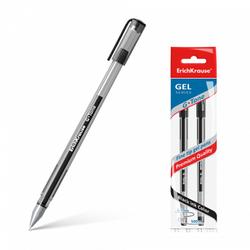 Ручка гелевая ErichKrause® G-Tone, цвет чернил черный (в пакете по 2 шт.) 39516