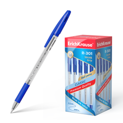 Ручка шариковая ErichKrause® R-301 Classic Stick&Grip 1.0, цвет чернил синий (в коробке по 50 шт.) 39527