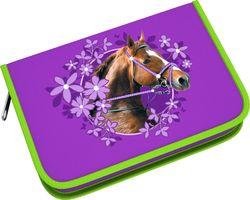 Пенал-книжка Wild Horse с одним отд,2 доп створки  б/нап, 135*205*33мм. 39792