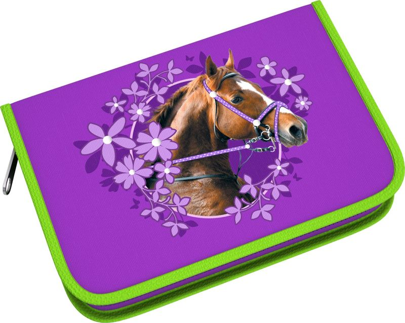 Пенал-книжка Wild Horse с одним отд,  б/нап. 135*205*33мм. 39792