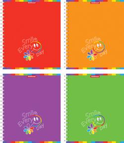 Тетрадь на спирали 96 листов SMILE EVERY DAY Collegebook, УФ-лак 39981