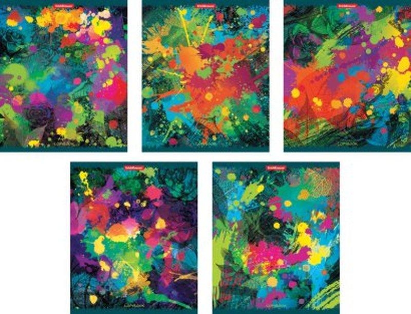 "Тетрадь общая ErichKrause® 96 листов в клетку. ""Jazz-band of colors"" ламинация глянцевая 40096"