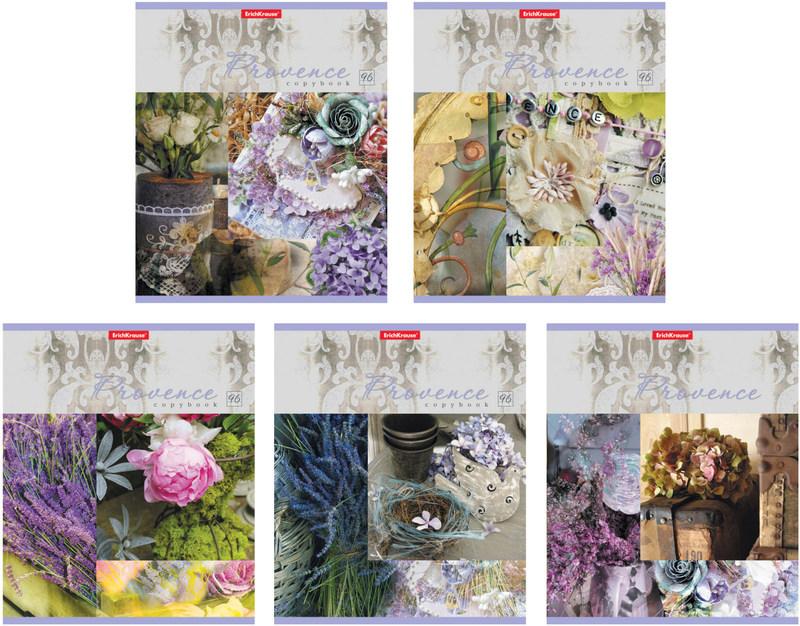 Тетрадь общая ErichKrause® 96 листов в клетку. Provence lavender 40097