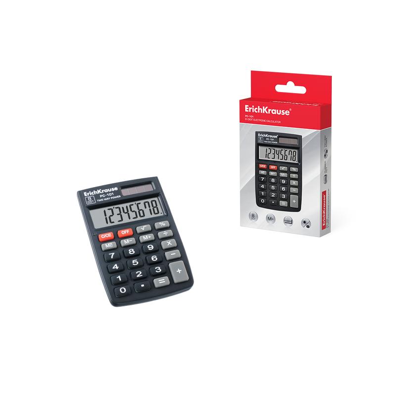 Калькулятор карманный 8-разрядов ErichKrause® PC-101 40101