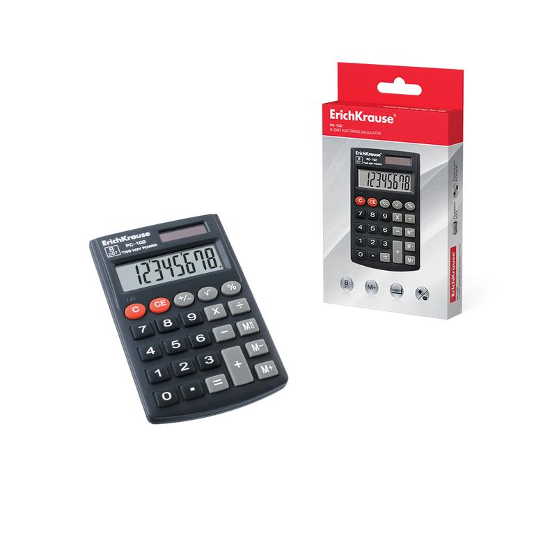 Калькулятор карманный 8-разрядов ErichKrause® PC-102 40102