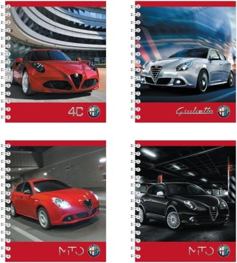 "Тетрадь на спирали, 80 листов, клетка. ""Alfa Romeo"" 40116"