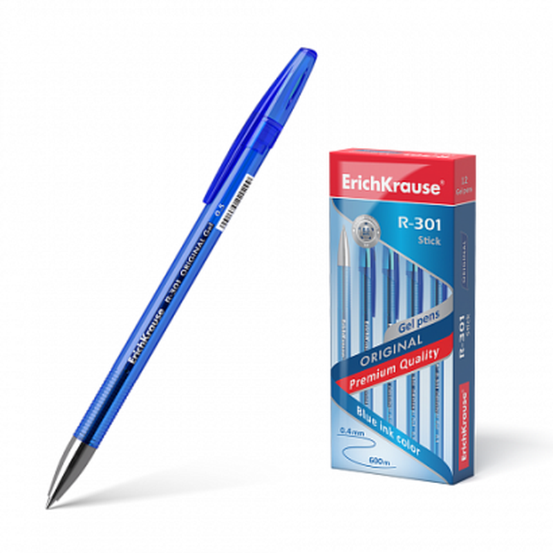 Ручка гелевая ErichKrause® R-301 Original Gel 0.5, цвет чернил синий 40318