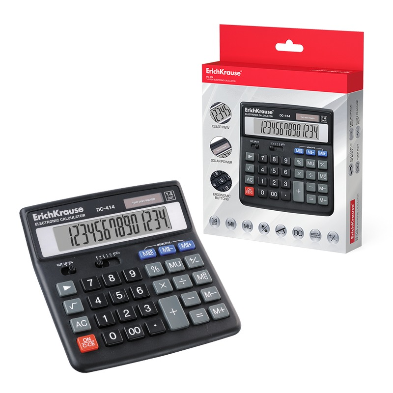 Калькулятор ErichKrause 14-разрядов DC-414. 40414
